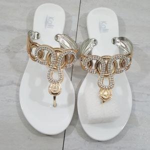 Women Cute Stylish Jelly Rhinestone Sandals size 8